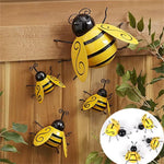 Load image into Gallery viewer, Decorative Metal Bumble Bee Wall Ornament