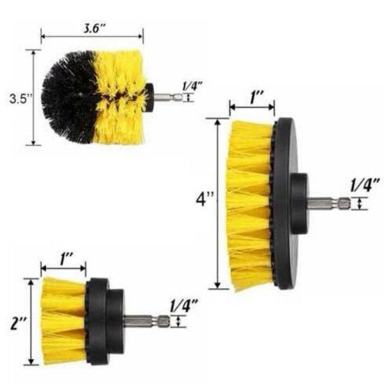 Drill Brush Power Scrubber (3 PCS)