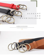 Load image into Gallery viewer, Faux Leather Belt with Double O-Ring Buckle