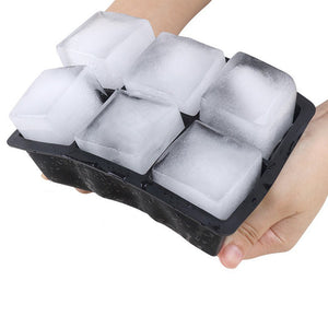 Sphere Ice Ball Maker with Lid and Large Square Ice Cube Molds