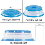 Load image into Gallery viewer, Collapsible Splatter Proof Food Plate Cover (2PCS)