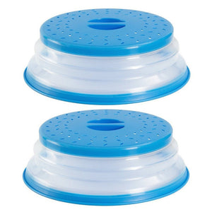 Collapsible Splatter Proof Food Plate Cover (2PCS)