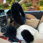 Load image into Gallery viewer, 3PCS Set Furry Steering Wheel, Handbrake and Shift Cover