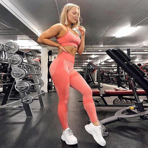 High Waist Seamless Sync Patchwork Workout Leggings!