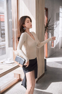 Women's Pullover Casual Slim Bottoming Sweaters