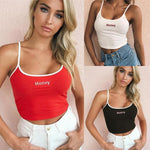 Load image into Gallery viewer, Women's Honey Letter Embroidery Crop Top