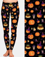 Load image into Gallery viewer, Pumpkin Head 3D Print Workout Leggings