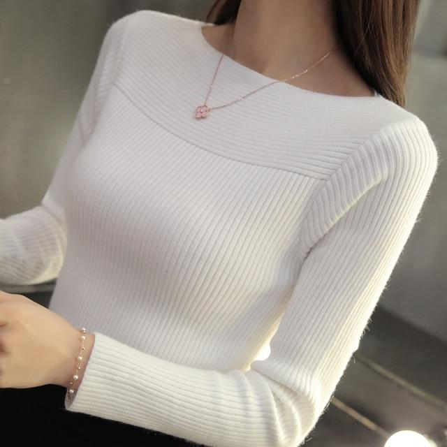 Casual Long Sleeve Autumn Knitted Sweater