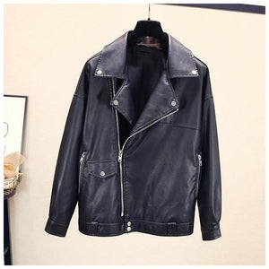Stay Ready PU Leather Jacket