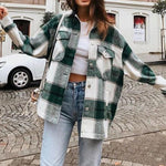 Load image into Gallery viewer, Upper East Plaid Oversize Jacket