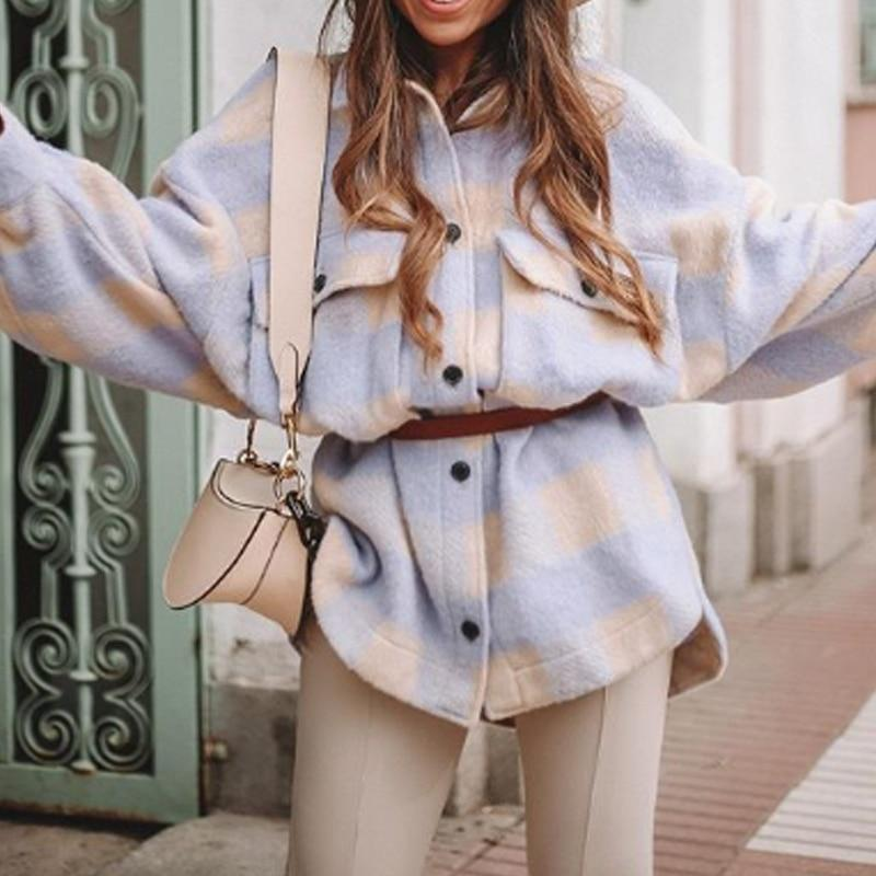Keep It In Check Oversized jacket