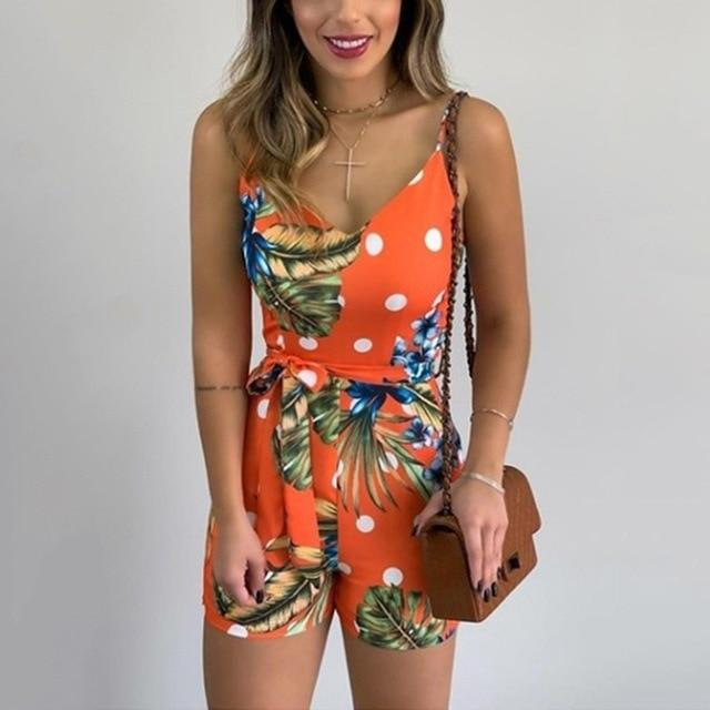 Pretty Tales V-neck Sleeveless Romper