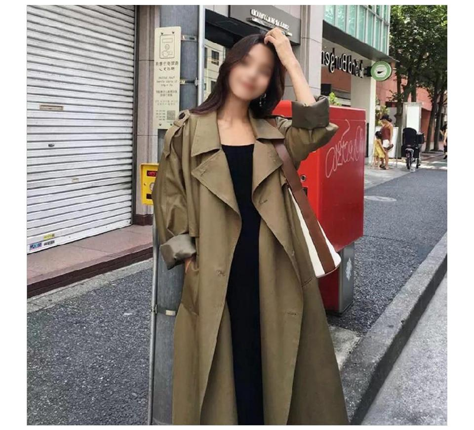 Always Busy Long Trench Coat