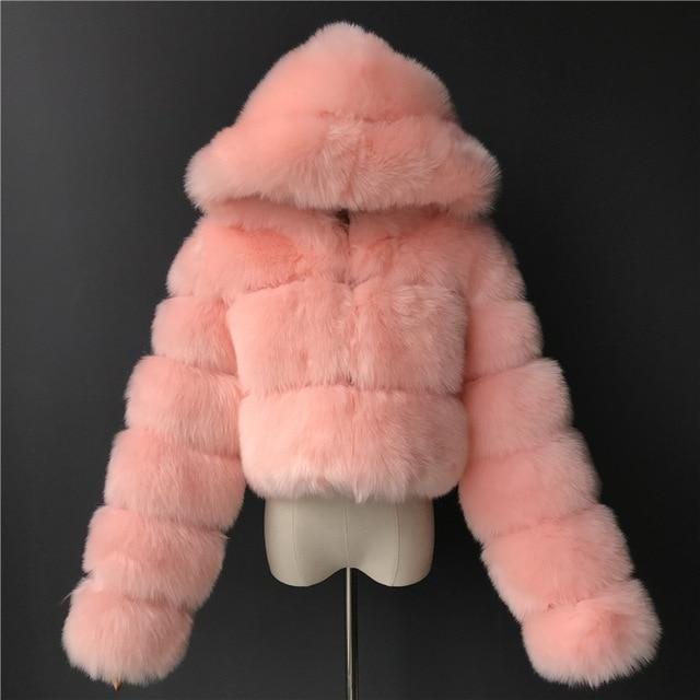 Soft Hearted Faux Fur Jacket