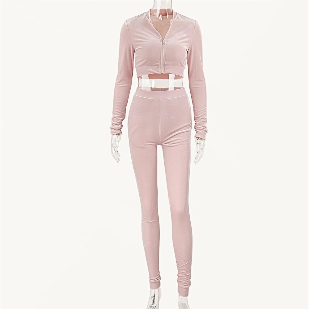 Women's Two-piece Diamante Rhinestones Jogging Suits