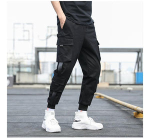 Men's Side Pockets Cargo Harem Pants