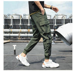 Load image into Gallery viewer, Men's Side Pockets Cargo Harem Pants