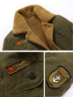 Load image into Gallery viewer, Men's Fur-collar Army Bomber Tactical Fleece Jacket