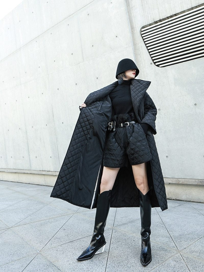 Black Moon Long Padded Coat