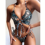 Load image into Gallery viewer, Women's High Waist Bikini Swimsuit
