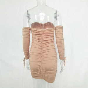 Dust My Shoulder Bandage Dress