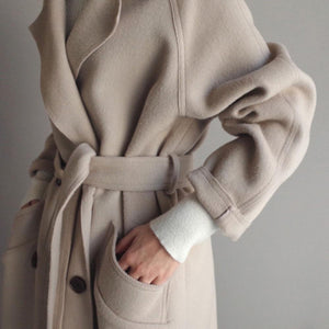 Pure Elegance Wool Blend Coat