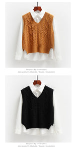 In Control Sleeveless Knitted V-Neck Vest