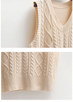 Load image into Gallery viewer, In Control Sleeveless Knitted V-Neck Vest