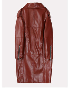Back Up Plan Faux Leather Coat