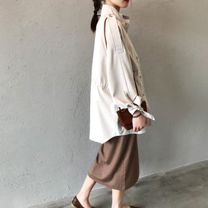 Fashionably Warm Mid-length Trench Coat