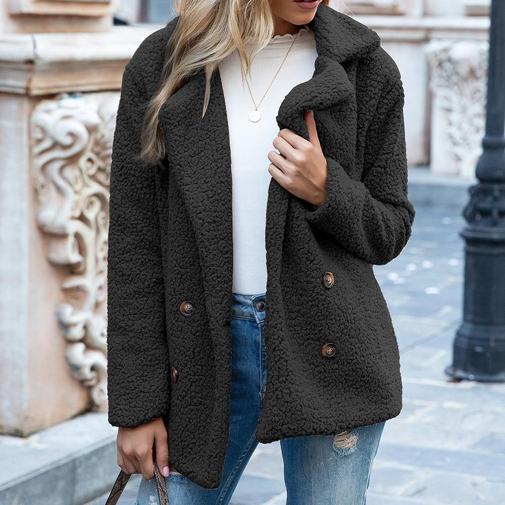Warm Teddy Fluffy Fur Jacket