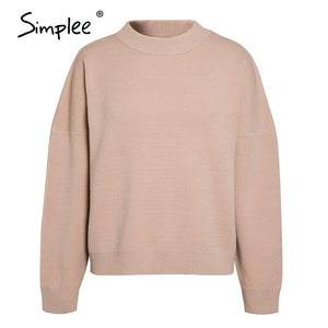 Women's Geometric Khaki Knitted Casual Pullover