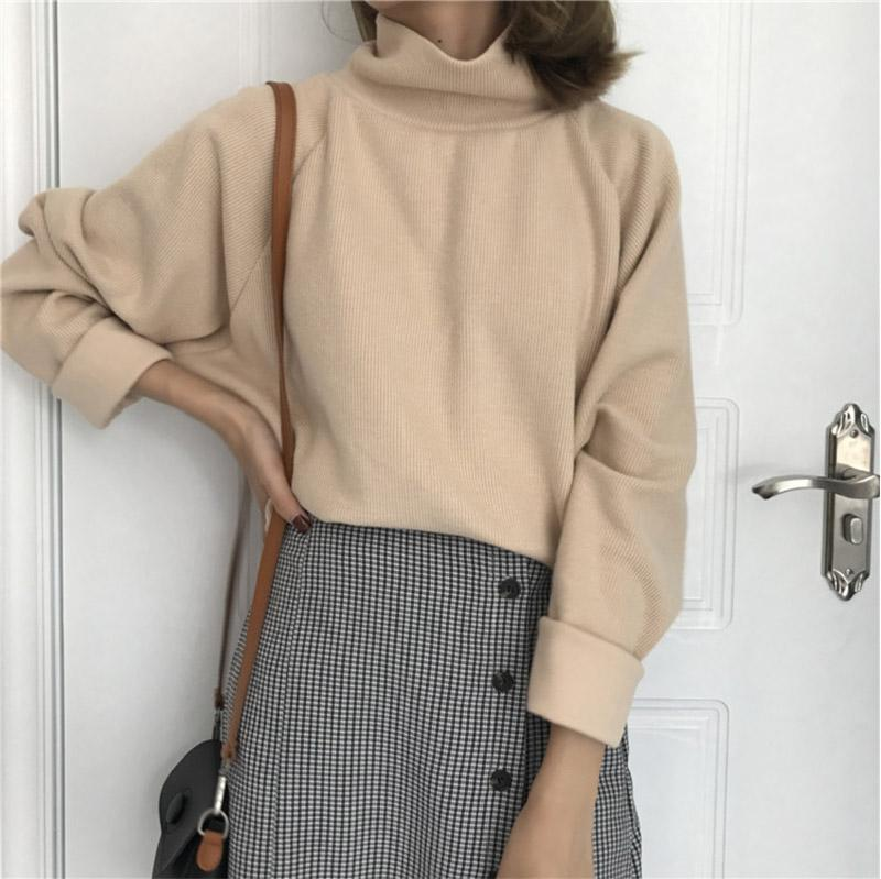 Turtleneck Sweater Autumn Winter Knitted Jumper