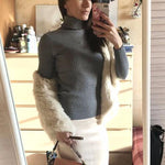 Load image into Gallery viewer, Women Turtleneck Sweater Casual Rib Jumper