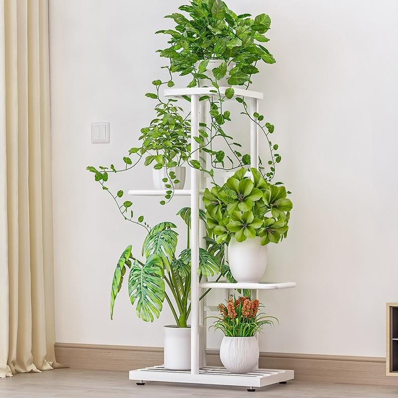 4 Tier 5 Potted Multiple Flower Pot Holder Stand