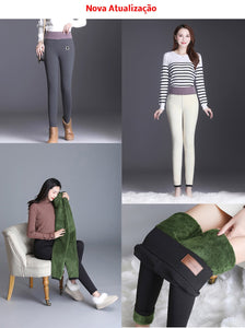 Women Winter Warm Velvet Lined Leggings