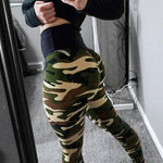 Load image into Gallery viewer, Designer Scrunch Booty Camouflage Tummy Control Push Up Leggings