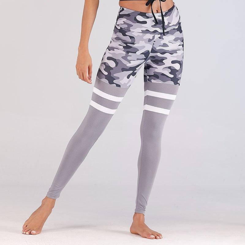 Fly Striped Camo Fitness Leggings