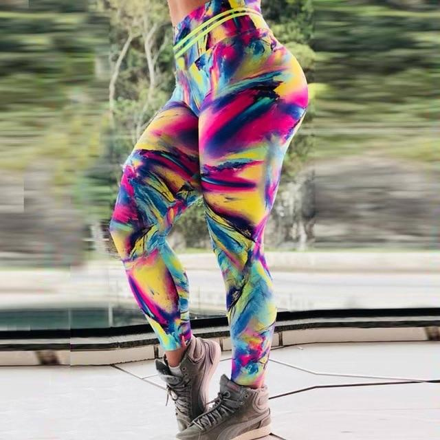 Deep Abstract 3D Print Leggings