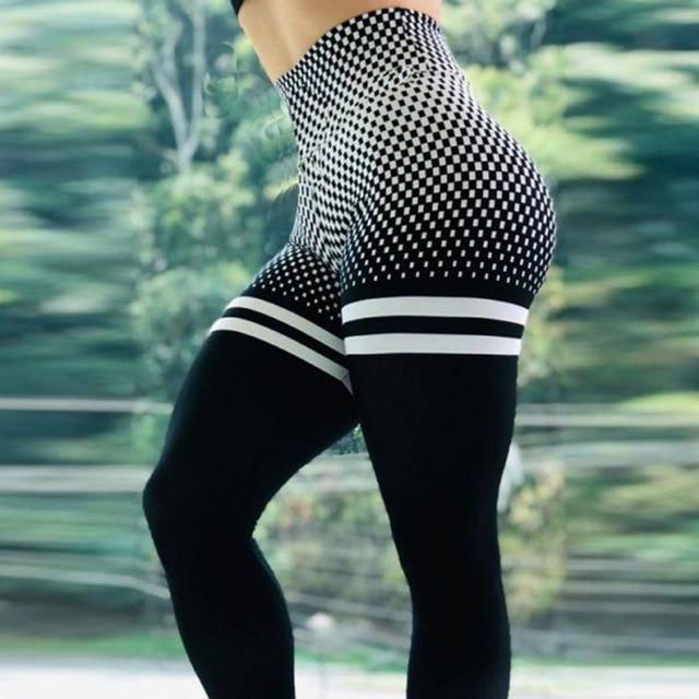 Neon Curve Shaping High Waist 3D Print Leggings