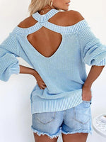 Load image into Gallery viewer, Round Neck Strapless Solid Sweater