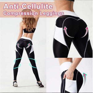 Quick-drying Pocket Heart Contour Workout Leggings