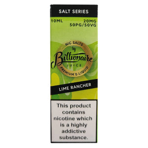 Billionaire Juice Nic Salts - Lime Rancher E Liquid-Fogfathers