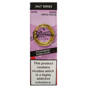 Billionaire Juice Nic Salts - Strawberry Bubblegum E Liquid-Fogfathers