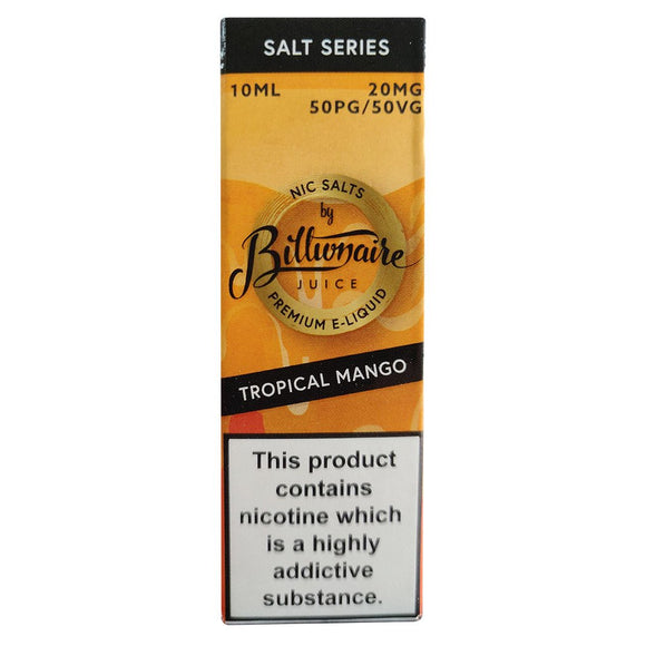 Billionaire Juice Nic Salts - Tropical Mango E Liquid-Fogfathers