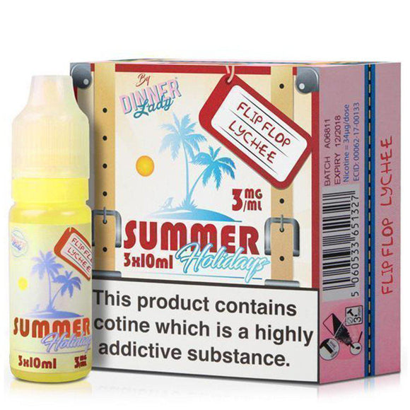 Dinner Lady Summer Holidays - Flip Flop Lychee E Liquid-Fogfathers
