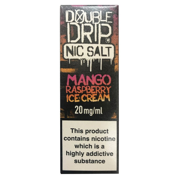 Double Drip Nic Salt - Mango Raspberry Ice Cream E Liquid-Fogfathers