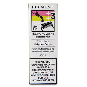 Element Emulsions - Strawberry Whip Banana Nut E Liquid-Fogfathers