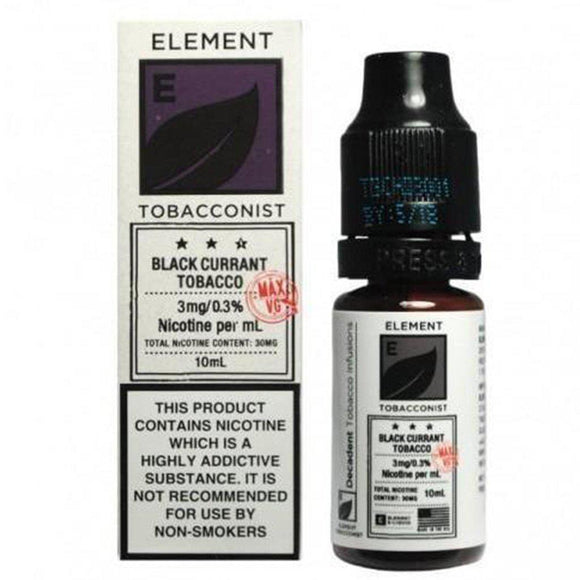 Element Tobacconist - Blackcurrant Tobacco E Liquid-Fogfathers