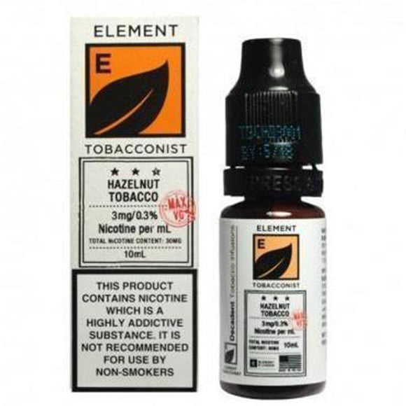 Element Tobacconist - Hazelnut Tobacco E Liquid-Fogfathers